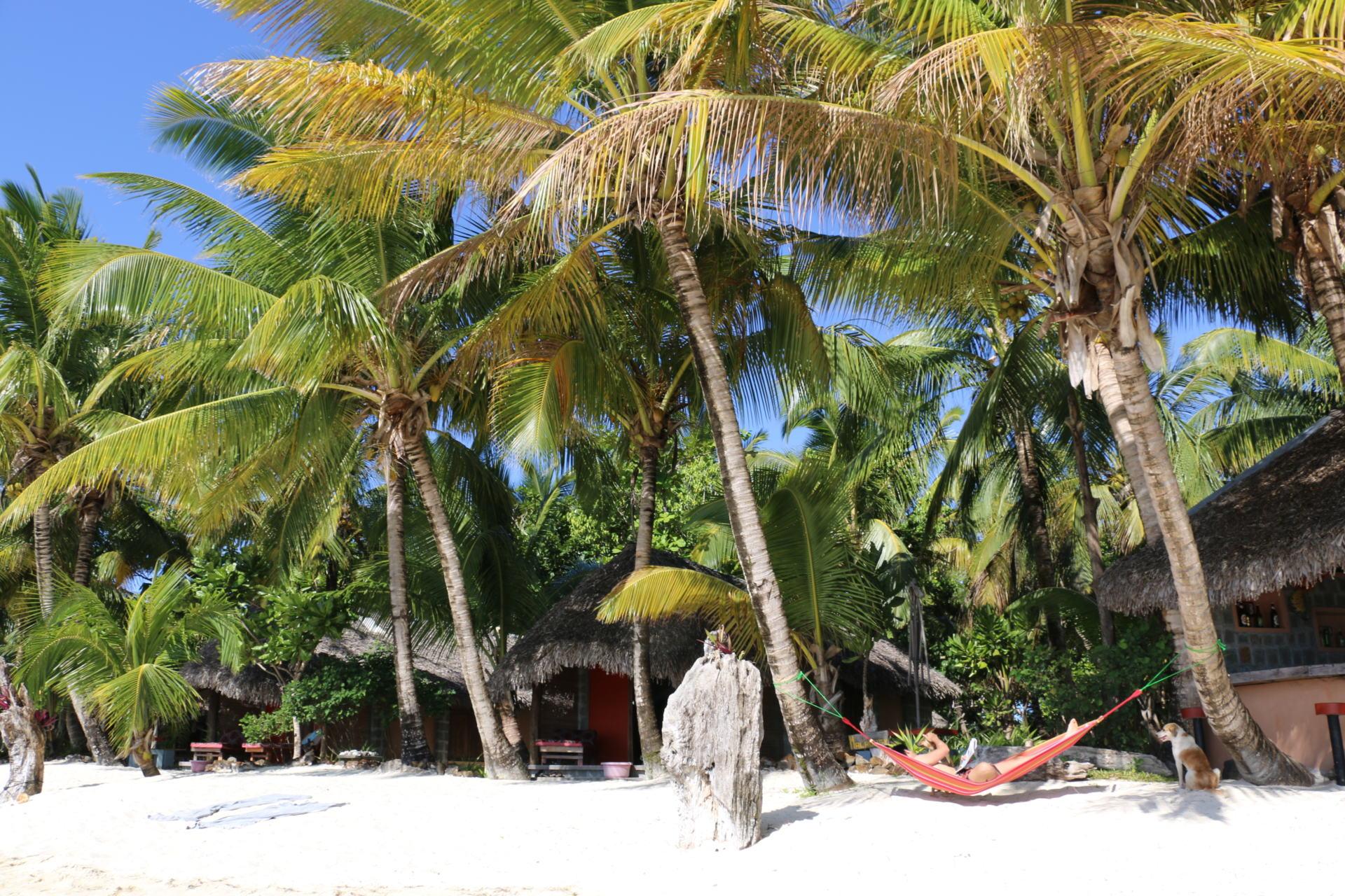 Madagaskar Urlaub unter Palmen in der Hängematte