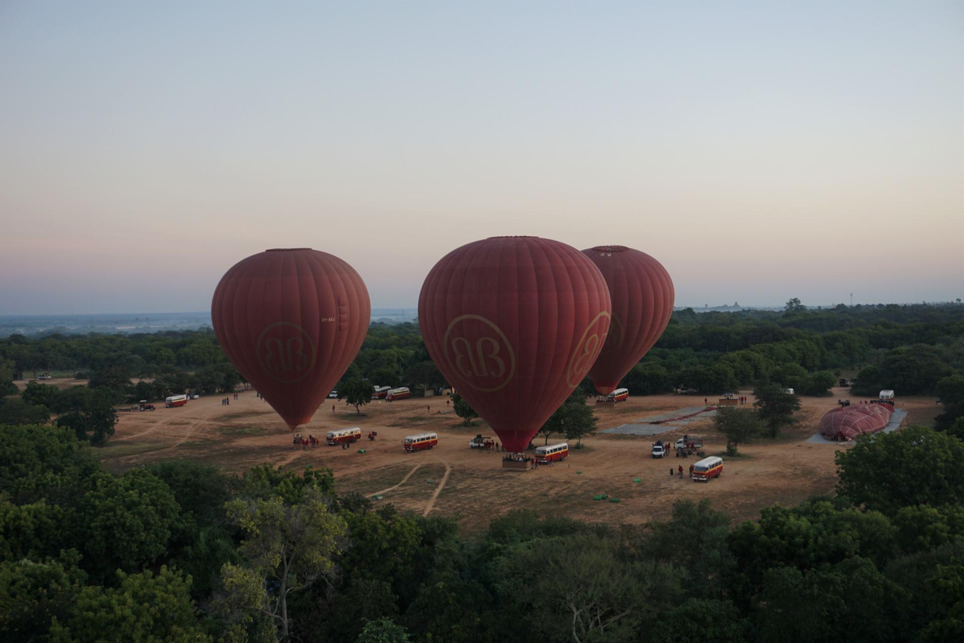 Ballonflug Bagan