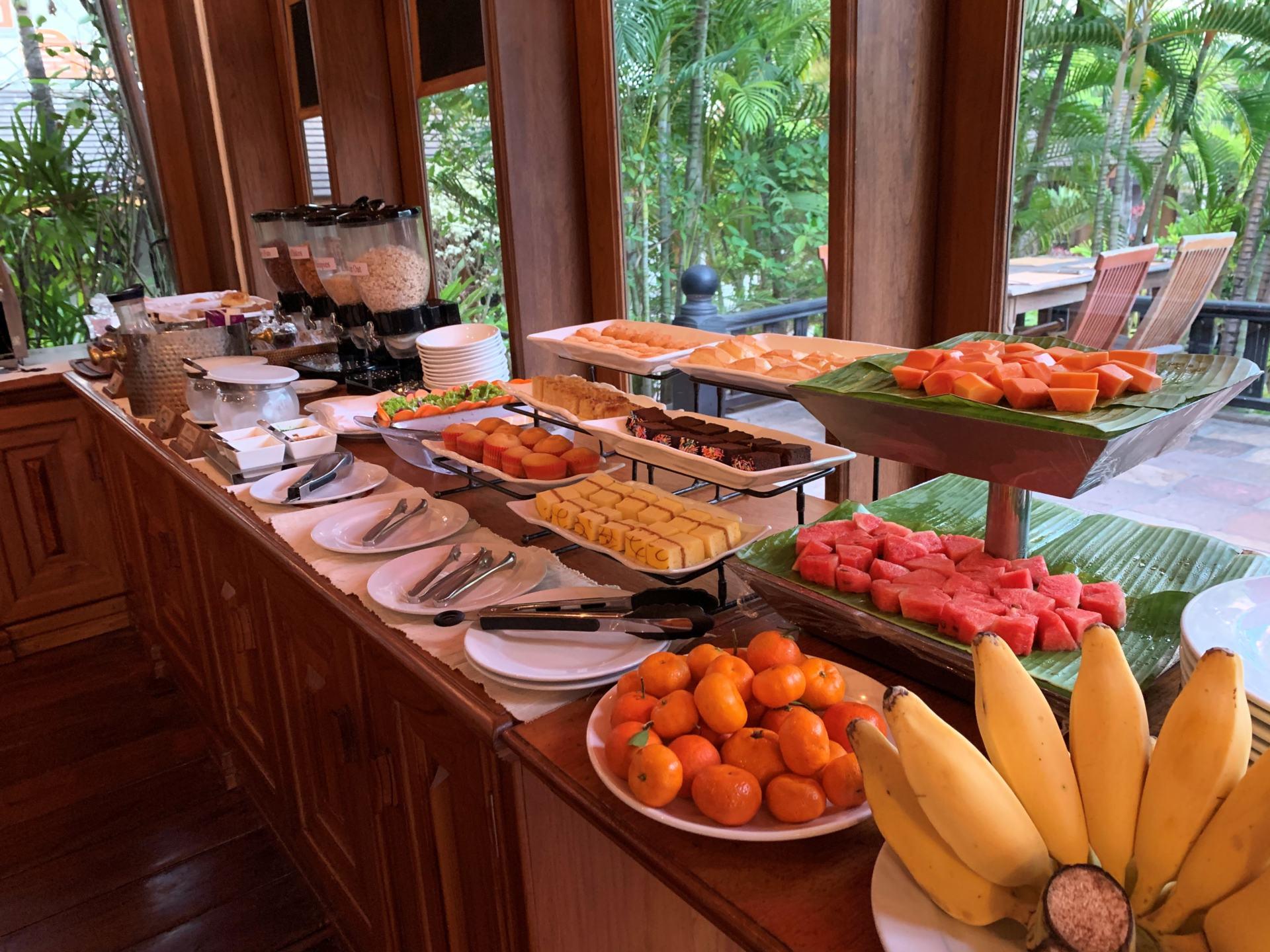 Frühstücksbuffet im Hotel by the Red Canal Mandalay